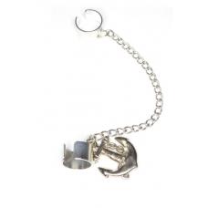 Zilveren Anker Ear Cuff