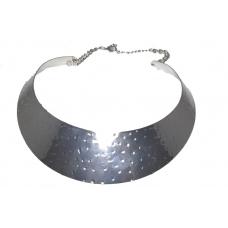 Zilveren Band Hals Ketting