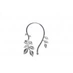Zilveren Bladeren Ear Cuff III