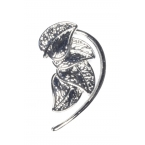 Zilveren Bladeren Ear Cuff II