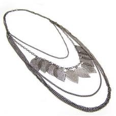 Zilveren Bladeren Ketting