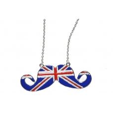 Zilveren Britse Vlag Snor Ketting