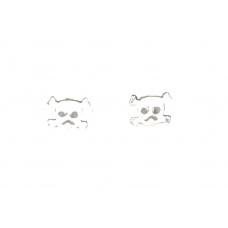 Kleine Zilveren Doodskop Oorbellen