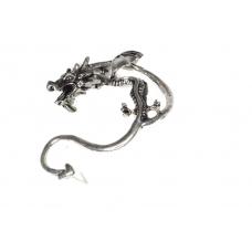 Zilveren Draak Ear Cuff