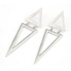 Zilveren Driehoeken Oorbellen
