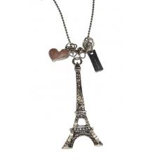 Zilveren Eiffeltoren Ketting