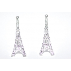 Zilveren Eiffel Toren Oorbellen