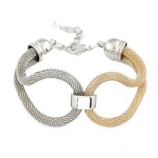 Zilveren & Gouden Kabel Armband