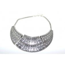 Zilveren Halsketting Met Print