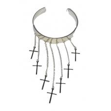 Zilveren Hanger Armband Met Kruisjes