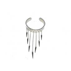 Zilveren Hanger Armband Met Spikes