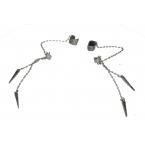 2 Zilveren Hanger Ear Cuffs Met Spikes