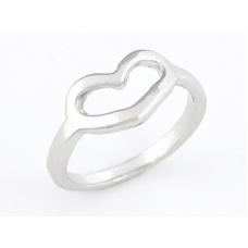 Zilveren Hartje Ring