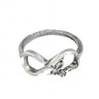 Zilveren Infinity Letter Ring