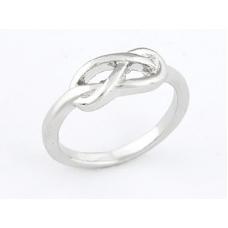 Zilveren Knoop Ring