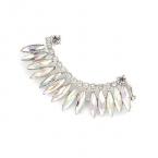 Zilveren Kristallen Ear Cuff