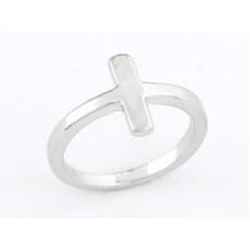 Zilveren Kruisje Ring