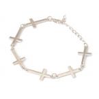 Zilveren Kruisjes Armband
