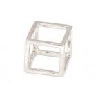 Zilveren Kubus Ring