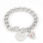 Zilveren Leopard Chain Armband