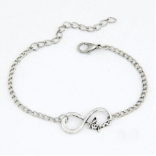 Zilveren Infinity Letters Armband
