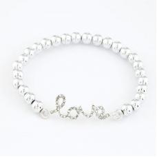 Zilveren Love Parel Armband