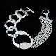 Zilveren Luxe Chain Armband Met Kristallen