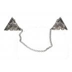 Zilveren Pyramide Kraag Ketting