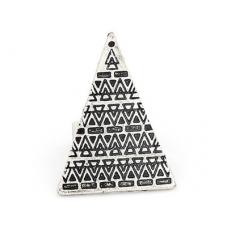 Zilveren Pyramide Ring