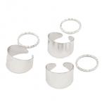 Zilveren Ringen Set