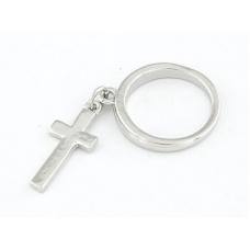 Zilveren Ring Met Kruisje