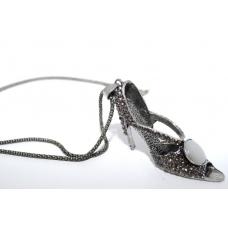 Zilveren Schoen Ketting