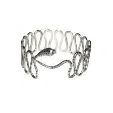 Zilveren Slang Bovenarm Armband