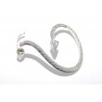 Zilveren Slang Ear Cuff