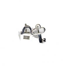 Zilveren Sleutel & Slot Oorbellen
