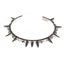 Zilveren Spikes Armband