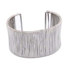 Zilveren Staal Draden Armband