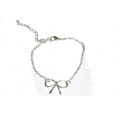 Zilveren Strik Armband