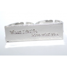 Zilveren 'When I Fallin Love With You' Ring