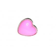 Zilver Met Roze Hart Ring