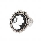 Zilver Met Witte Zegel Ring