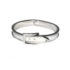 Zilver Witte Riem Armband