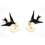 Zwaluw met Liefdesbrief Oorbellen