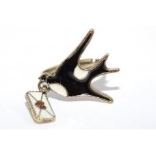 Zwaluw Met Liefdesbrief Ring