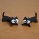 Zwarte Kater Oorbellen