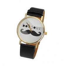 Zwarte Bonjour Horloge