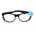 Zwarte Bril Met Blauwe Strik