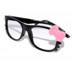 Zwarte Bril Met Licht Roze Strik