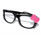 Zwarte Bril Met Roze Strik