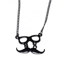 Zwarte Bril Met Snor Ketting